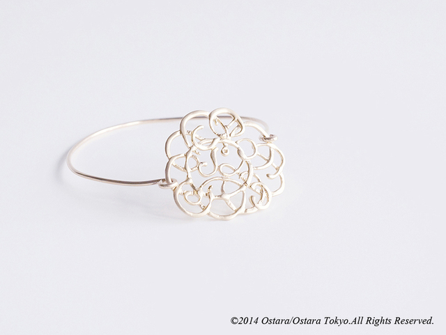 【14KGF】 Wire Bangle,16KGP Filigree