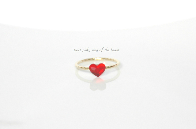 再edy-t■twist pinky ring of the heart☆送料無料