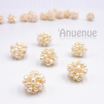 Natural Stone Beads /淡水パールビーズ【 14mm BALL / Cream White 】2個