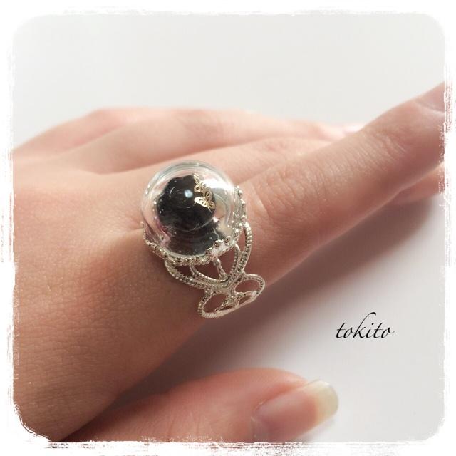 毒りんごの指輪*銀黒