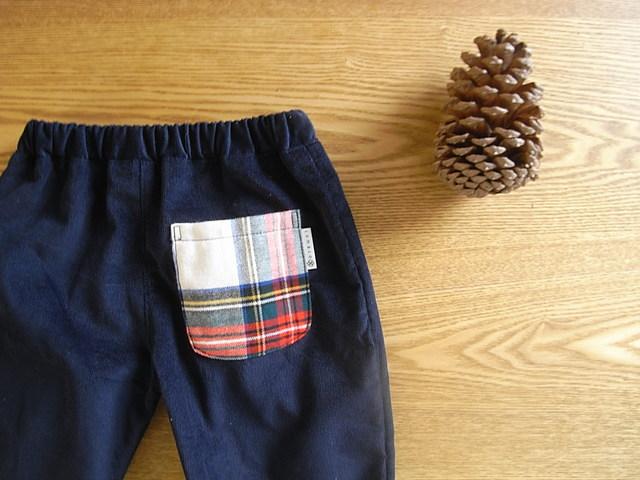 コーデュロイタックパンツ(紺)*80サイズ