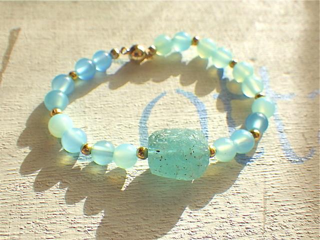 Roman Glass Ocean Bracelet