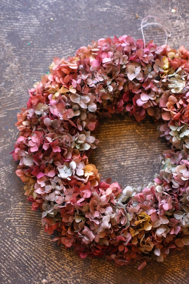 Preserved Flower Wreath Antique color Wreath Lsize