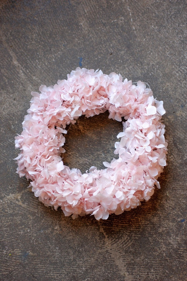 Preserved Flower Wreath sakura pink