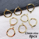 【frpp4228chmm】【8個】twist ring frame charm