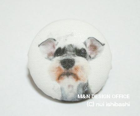 M&Nオリジナル写真布バッジ/シュナウザー2