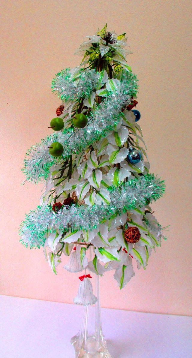 アメリカンフラワーのクリスマスツリー