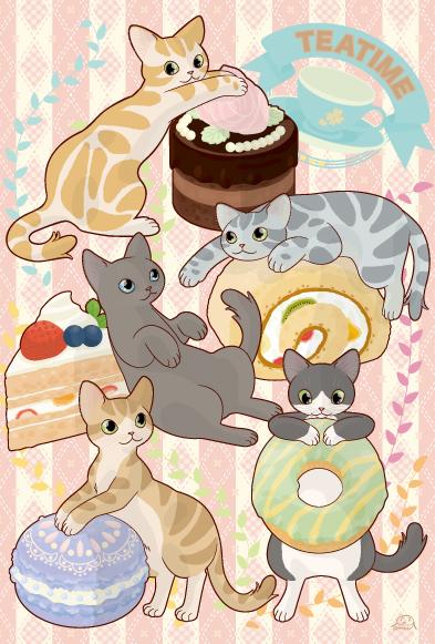 猫のポスカ『おやつぬこ2』