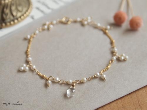 Pearl×Moonstone bracelet