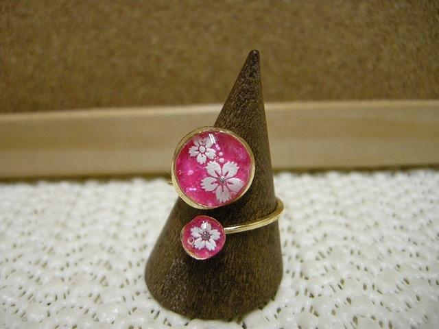 *水中花 桜のリング ピンクver.*