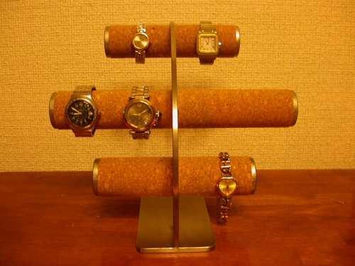 腕時計スタンド!8本掛け反り返る腕時計収納スタンド