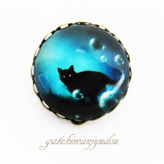 黒猫☆ブローチ