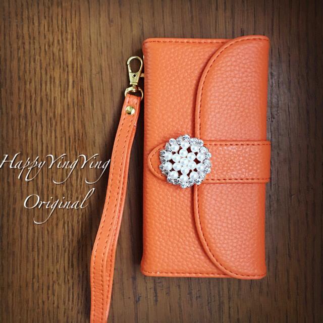 iphone6/iphone6s/iphone6sPlus橙色【厚】手帳型