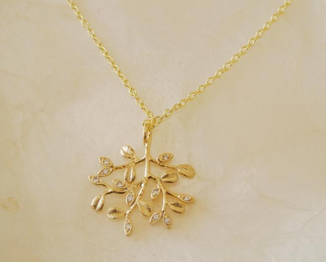 (再入荷)sparkling gold tree ネックレス