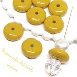 mustard(8pcs)Nuance color disk beads