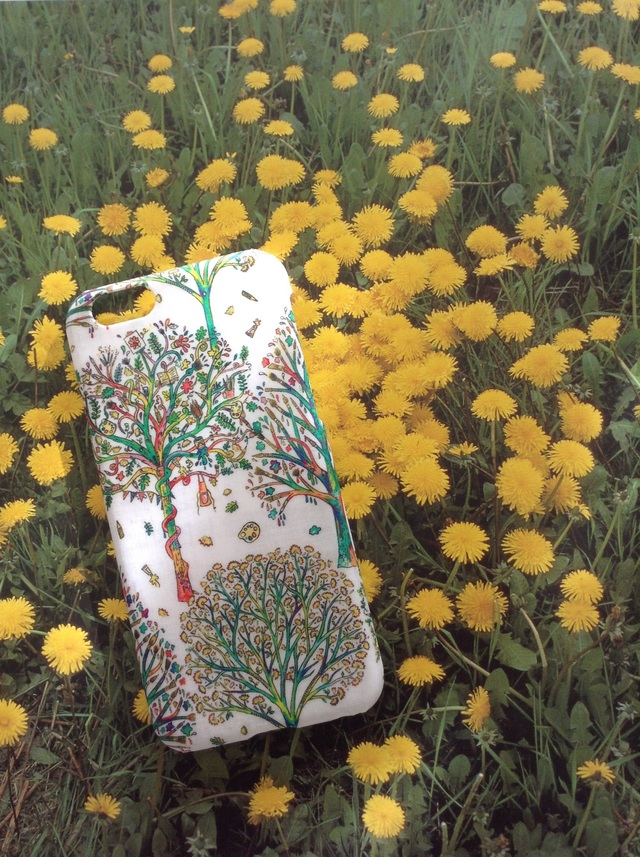 リバティ iphone6 6Sケース(ツリー エメラルド)