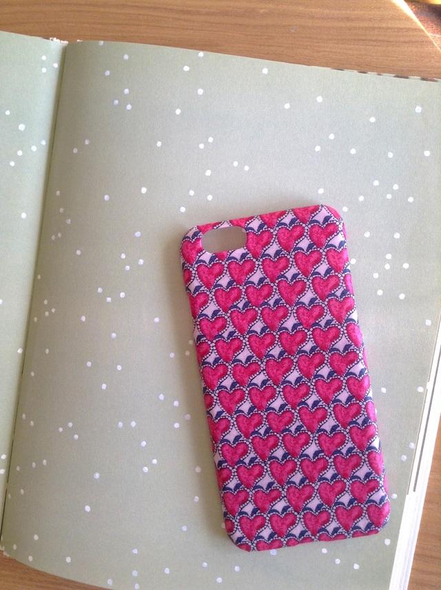 リバティ iphone6 6Sケース(ハートキャノビー キャンディピンク)