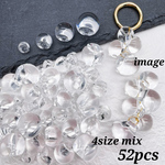 再販♪【brsr4294acrc】【4size mix】【52pcs】clear acrylic beads