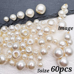 再販♪【brsr4295acrc】【5size mix】【60pcs】pearl beads