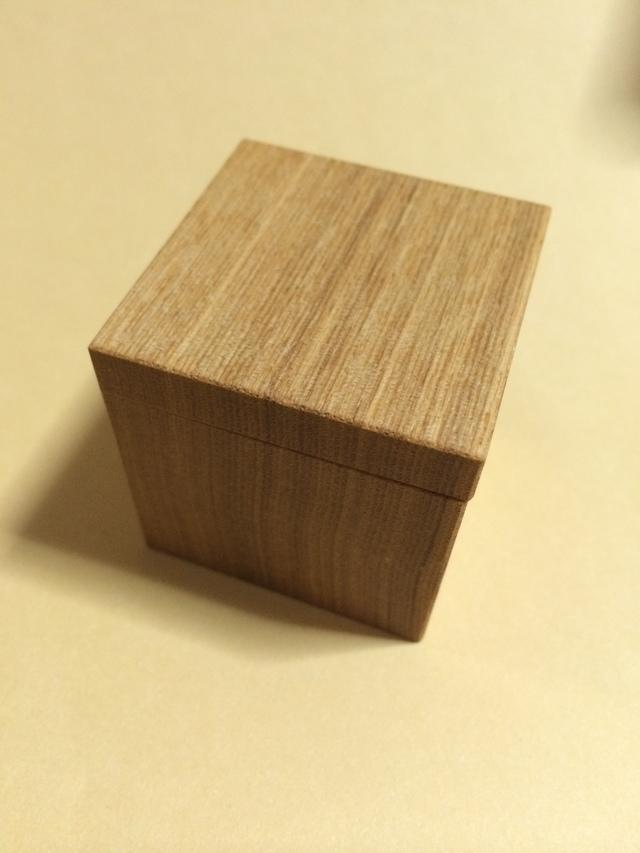 ガラスドーム専用木箱「cube」