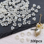 Thanks☆price【chmm4297crc】【約100個♡】petit pearl flour parts  ミニ・パール・花・フラワー