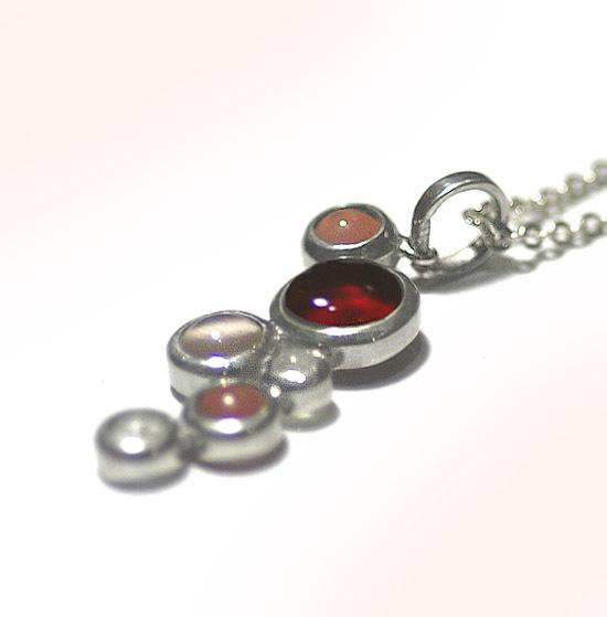 Silver × glass  Bubble pendant