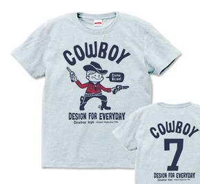 【再販】カウボーイ&ナンバリング☆アメリカンレトロ S〜XL  Tシャツ【受注生産品】