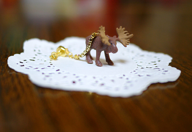 (Sold out)animal片耳ピアス【Moose】