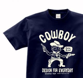 【再販】カウボーイ  150.160.(女性M.L) S〜XL  Tシャツ【受注生産品】