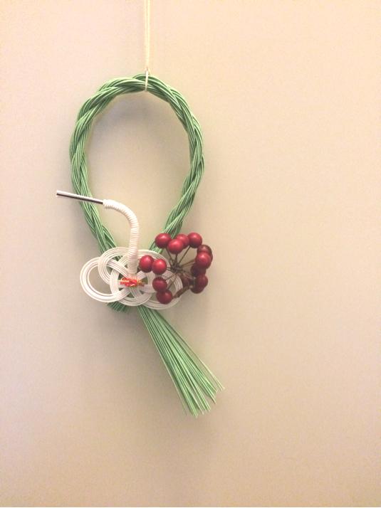 水引のお正月飾り:鶴