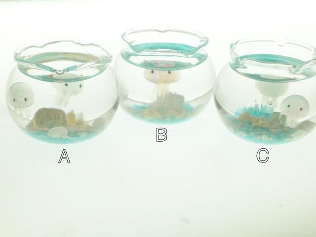 ぷちアクアリウムくらげちゃん 金魚鉢とクラゲ 2匹タイプ