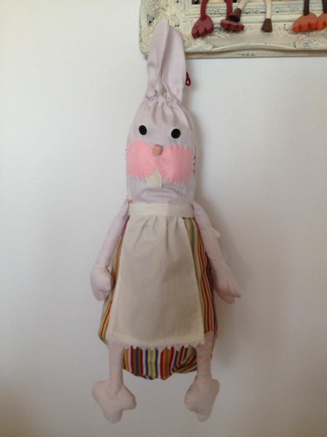 ウサギさんのレジ袋ストッカー
