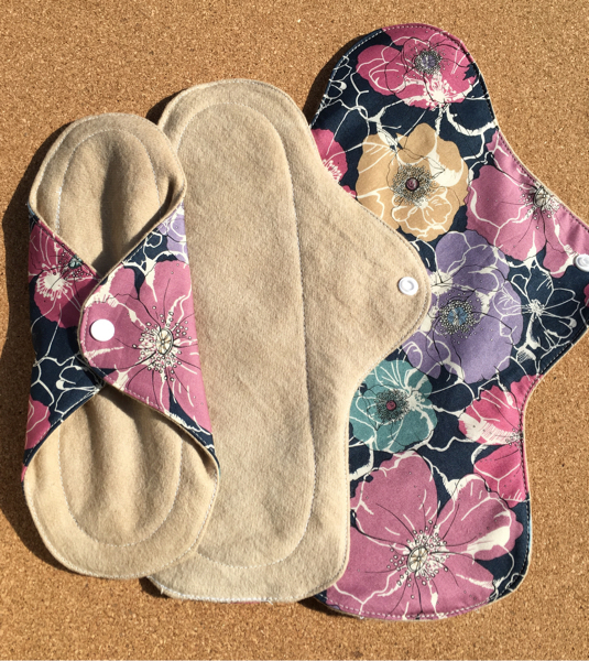 草木花染(赤紫蘇)+リバティーふんわり布ナプキンセット