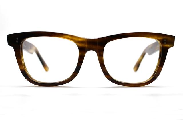 木のような柄のセルロイドメガネ067-WW