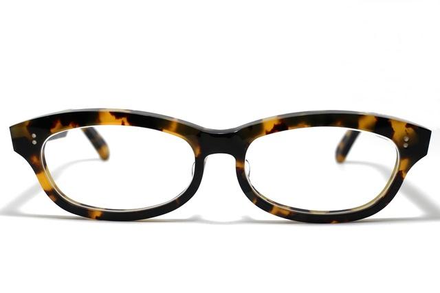(男性向け)、黄色と黒のマーブル模様のセルロイドメガネ048-バラフ