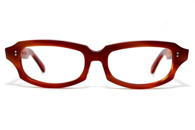 男性向け、炎のような赤い生地ののセルロイドメガネ049-FF