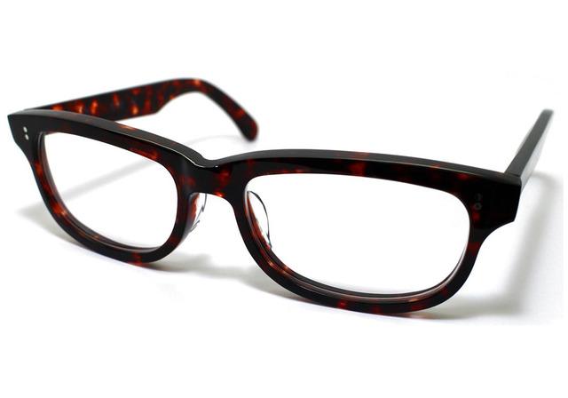 (体の大きい人向け)琥珀のような柄のセルロイドメガネ050-AA