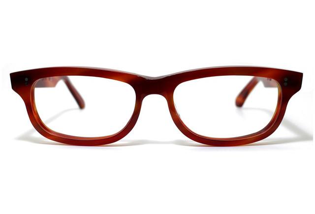男性向け、炎のような赤い生地のセルロイドメガネ050-FF