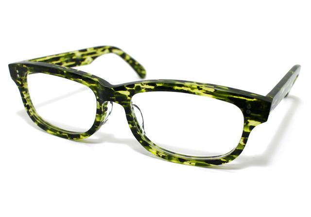 男性向け、スイカの皮のようなセルロイドメガネ050-SS