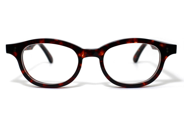 (体の大きい人向け)琥珀のような柄のセルロイドメガネ068-AA