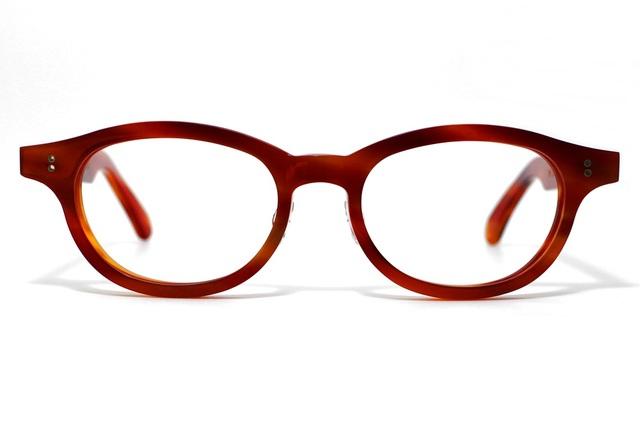 男性向け、炎のような赤い生地のセルロイドメガネ068-FF