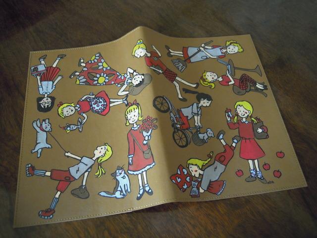送料無料 手描きのノートカバー 「GIRLSこれくしょん」