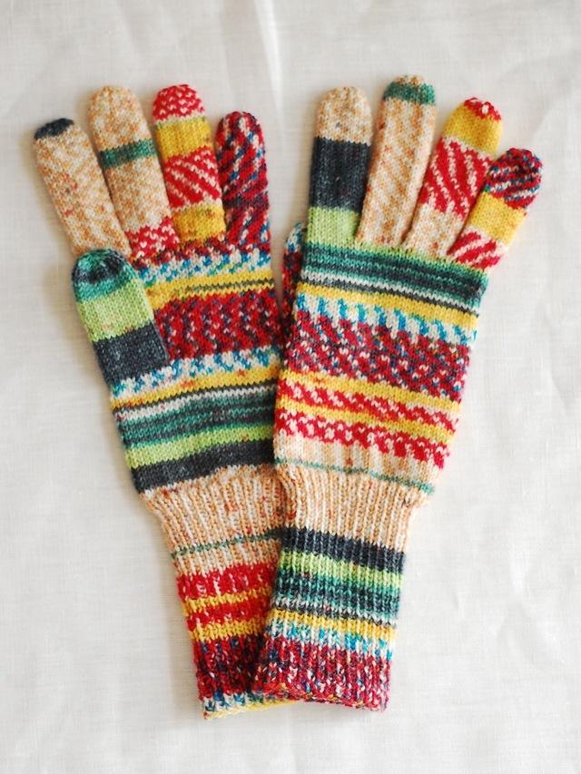 手編み5本指手袋 No.47