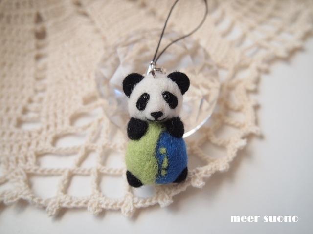 パンダ&地球ストラップ