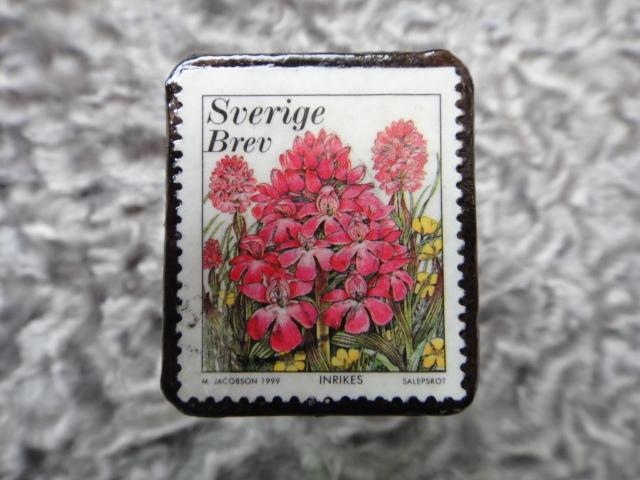 スウェーデン 切手ブローチ 592