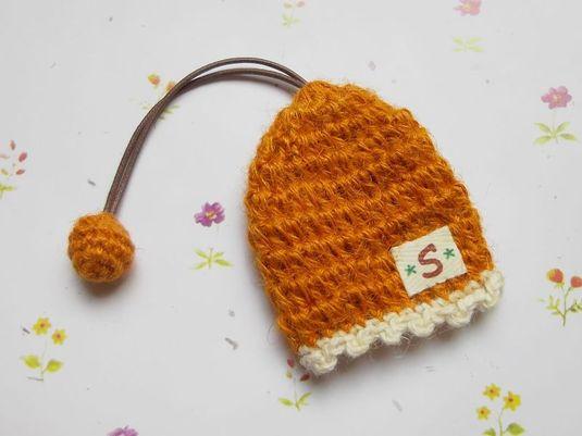 かぎ帽子 オレンジ