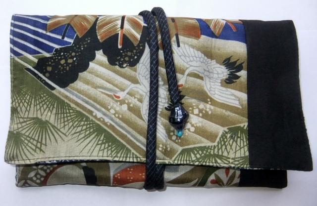 着物リメイク 男の子のお宮参り着で作った和風財布 944