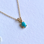 Sleeping Beauty 14kgf turquoise necklace 12月誕生石