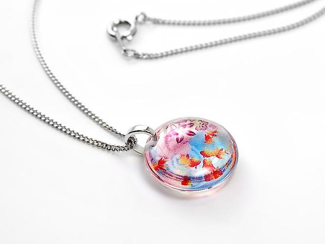 ★花金魚のネックレス