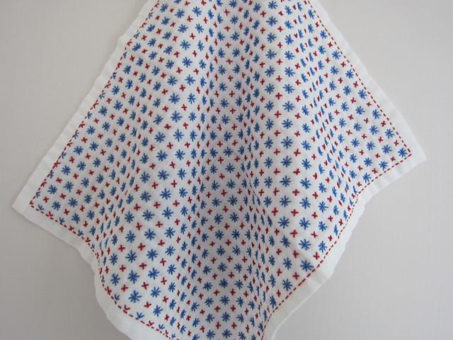 刺し子布巾(米刺し)